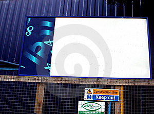 Blank Small Billboard In Urban Surroundings Stock Photos - Image: 6486713