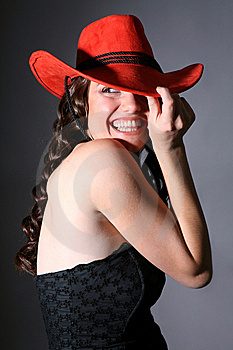 Girl With Red Hat Stock Photos - Image: 6488533