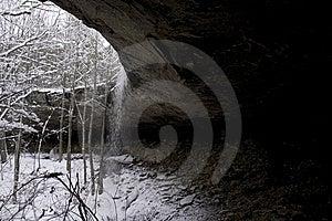 Snowy Waterfall Stock Photo - Image: 6492440