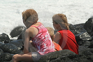 Watching The Waves Royalty Free Stock Image - Image: 6494256