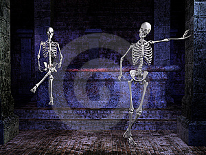 Skeletons In A Tomb Royalty Free Stock Images - Image: 6494279