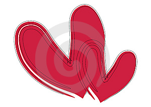 Corações Do Curso Da Escova - Vetor Imagem de Stock - Imagem: 6495641