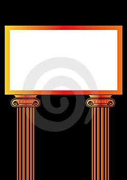 Greek Antique Pillar Frame Royalty Free Stock Image - Image: 6495706