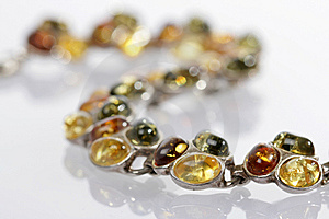 Bracelet From Amber Royalty Free Stock Photo - Image: 6496745