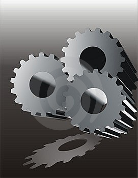 Serrated Wheels Object Stock Photo - Image: 6497360