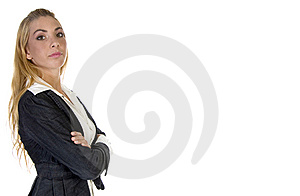 Stylish Pose Of Businessperson Royalty Free Stock Photo - Image: 6497695