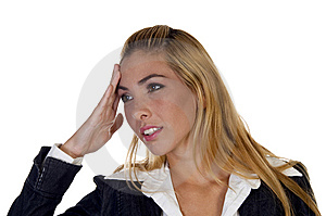 Young Lady In Tension Stock Photos - Image: 6497753