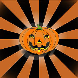 Halloween's Pumpkin On Manga Background Stock Image - Image: 6498891