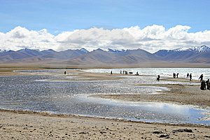 Tibet's Nam Co Lake Stock Photo - Image: 6499350