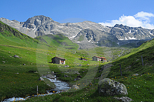 Swiss panorama Stock Photography