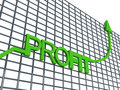 Profit graph Royalty Free Stock Photography