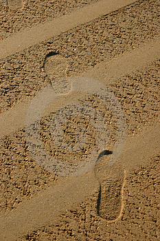 Foot Print Royalty Free Stock Photos - Image: 651708