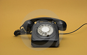 Retro phone Stock Image