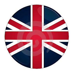 Britain Button With Flag Royalty Free Stock Photography - Image: 6500517