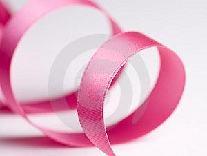 Pink Ribbon On White Royalty Free Stock Photo - Image: 6501695