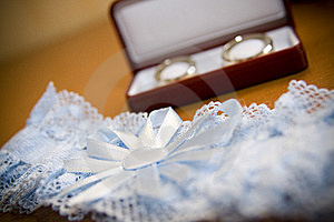 Wedding Rings And Garment Stock Images - Image: 6503314