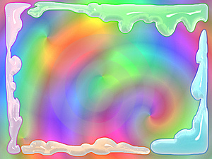 Melting Glass Psychedelic Frame Royalty Free Stock Photos - Image: 6503468