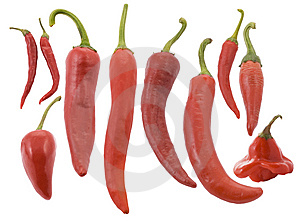 Different Types Of Red Red Hot Chili Pepper Stock Photo - Image: 6503590