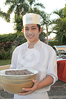 Chef At Buffet Stock Photography - Image: 6508162