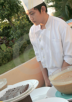 Chef At Buffet Stock Image - Image: 6508181