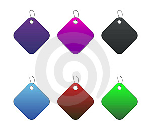 Colored Tags - 7 - On White Royalty Free Stock Images - Image: 6512569