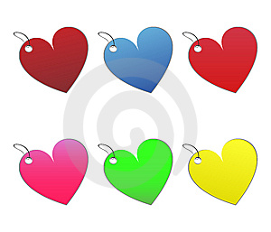 Colored Tags - 10 - On White Royalty Free Stock Photography - Image: 6512787