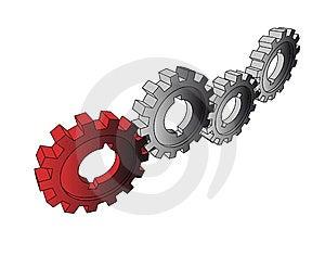 Isolated Cogwheels Stock Images - Image: 6514164