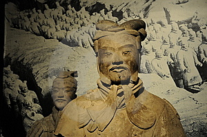 Chinese Ancient Warrior Sculpture Royalty Free Stock Photo - Image: 6516195