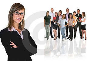Businesswoman and your businessteam Free Stock Photos