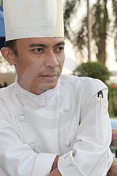 Chef At Buffet Stock Photography - Image: 6518662