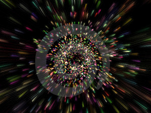 Lots Of Particles Emission Royalty Free Stock Photo - Image: 6520525