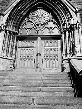 Church Doors B/W Royalty Free Stock Photos - Image: 6520748