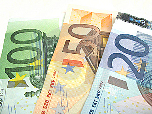 Euros Close-up Stock Image - Image: 6524141