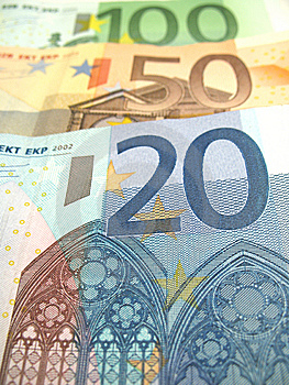 Some Euro Bills Royalty Free Stock Images - Image: 6524169