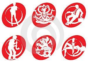Cinema Silhouettes Icons_21 Stock Image - Image: 6525691