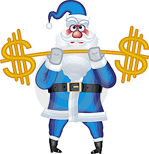 Illustration Of Santa Claus In Various Poses With Royalty Free Stock Photos - Image: 6526878