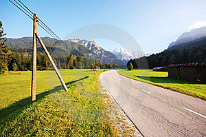 Road To Alps Royalty Free Stock Photo - Image: 6527655