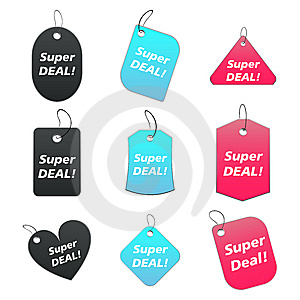 Colored Tags - Super Deal Royalty Free Stock Photo - Image: 6529035