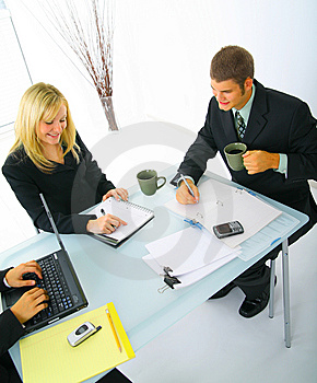 Coworker Working Together Stock Photo