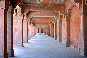 Passage Of Agra Fort Stock Photo - Image: 6531710