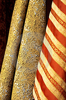 Gold Linen Royalty Free Stock Images - Image: 6532709