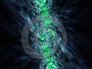 Green And Blue Mirrored Particles Emission Royalty Free Stock Photos - Image: 6533138