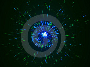Blue And Green Particles Emission Stock Photography - Image: 6533152