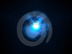 Very Bright Alien Star With Blue Glows Stock Photos - Image: 6533203