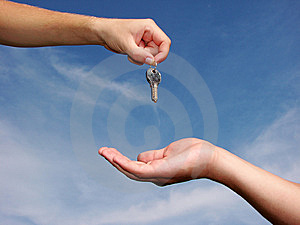 Hands with key Stock Images