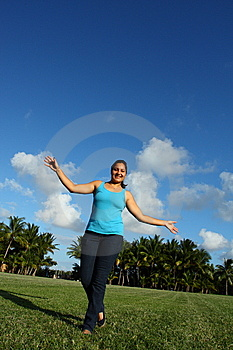 Walking On Grass Stock Images - Image: 6534944