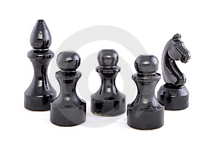 Black Chessman Stock Photos - Image: 6537613