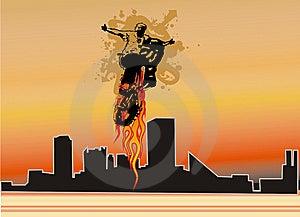Jumper Biker Stock Photo - Image: 6538670