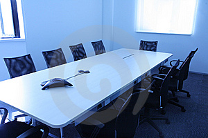 Inside a conference room Stock Images