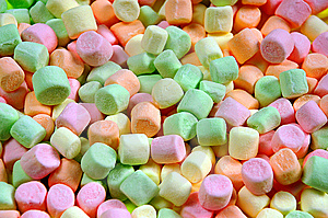 Colorful Miniature Marshmallows Stock Image - Image: 6540871